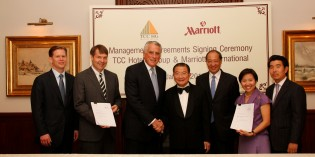 MARRIOTT SIGNS LANDMARK DEAL WITH TCC HOTELS GROUP FOR SEVEN HOTELS