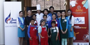Bangkok Airways and Sukhothai Airport welcoming Junior Master Chef Thailand
