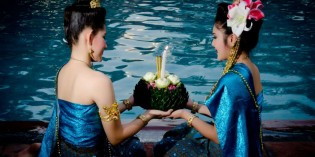Loy Krathong magic Anantara Bangkok Riverside Resort and Spa