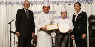 SHANGRI-LA HOTEL,WON BANGKOK'S BEST RESTAURANTS 2013