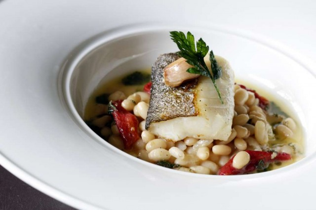 13-Baked-Snow-fish-with-White-Beans-Tomatoes-Comfit-and-Rosemary-Pesto