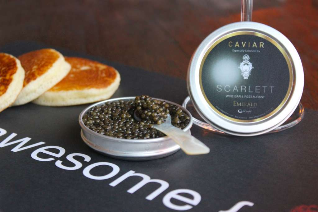 Emerald Imperial Caviar at Scarlett Wine Bar & Restaurant
