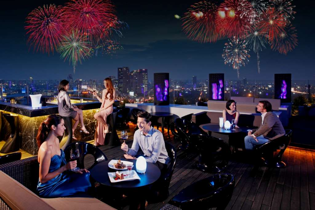 sky high celebrations on new year s eve at blue sky bar On terrace new year party