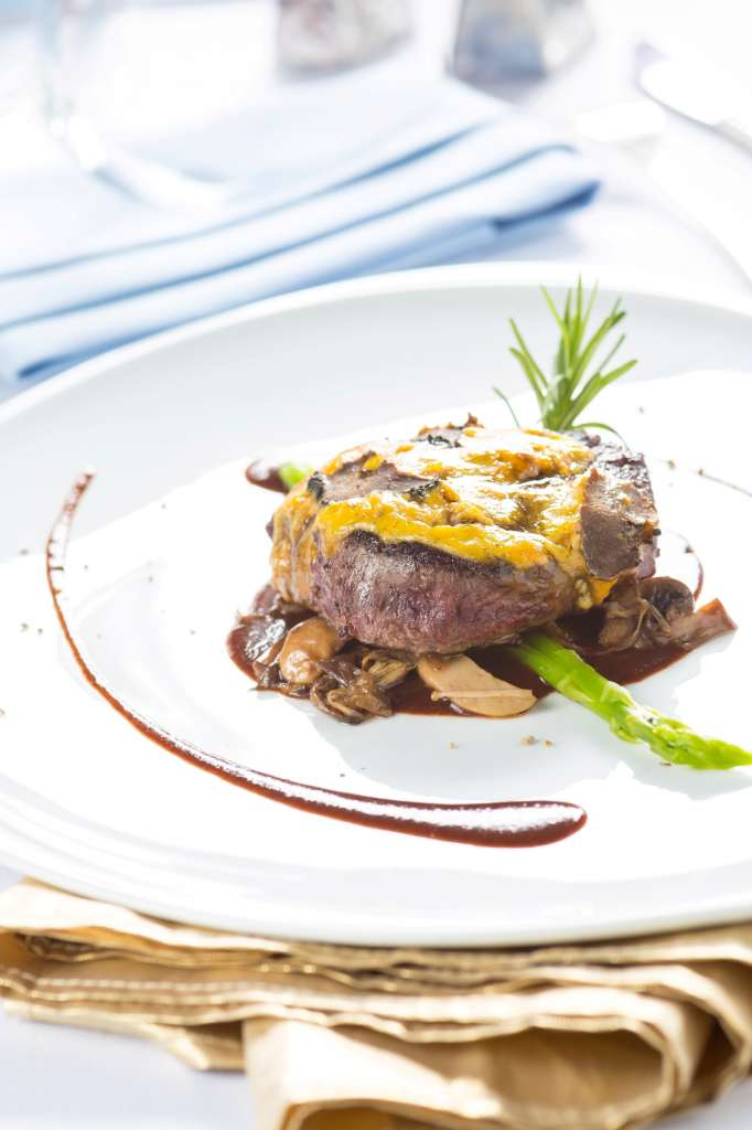 BlueSky_NYE-Seared-Wagyu-beef-fillet-gratin-foie-gras-perigord-truffle-wild-mushrooms-and-madeira-sauce