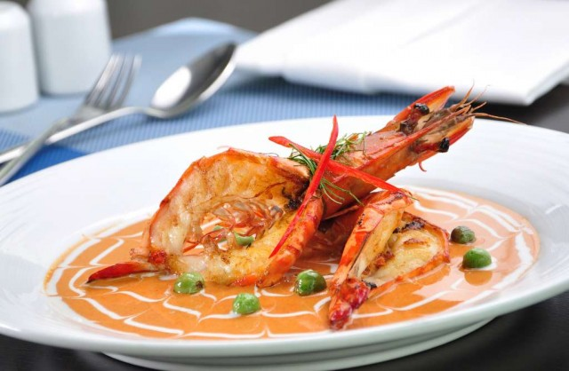 Tiger-Prawn-Specials-at-River-Barge-Restaurant