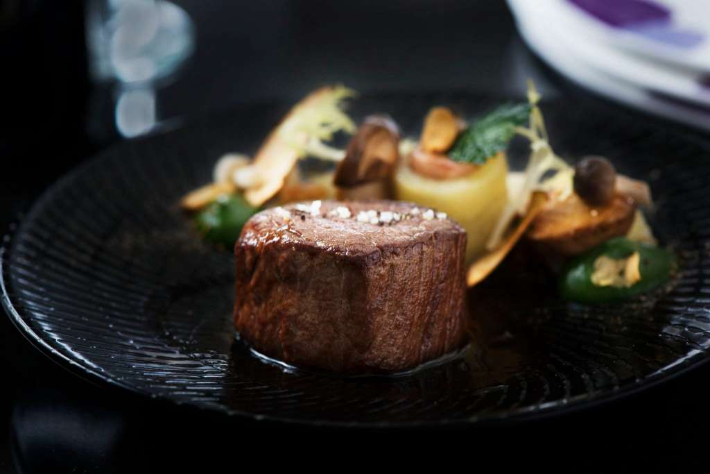 Pan-seared-Kamui-beef-fillet-with-confit-potato-garnished-with-beef-cheek-JAIME