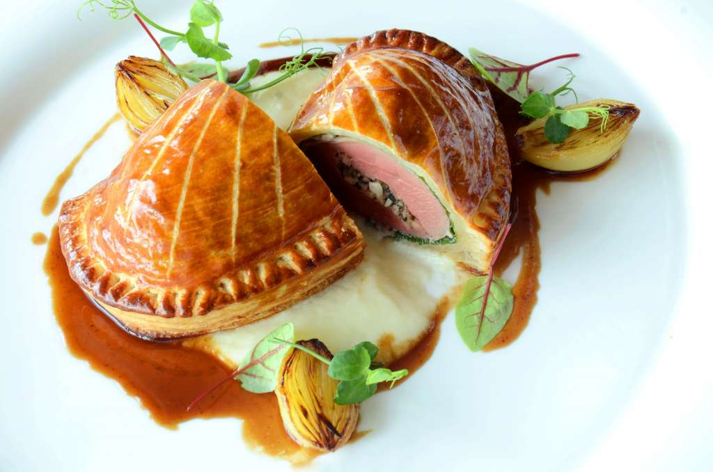 Imperial-pigeon-pithiviers-white-onion-puree-madeira-jus-Signature-menu