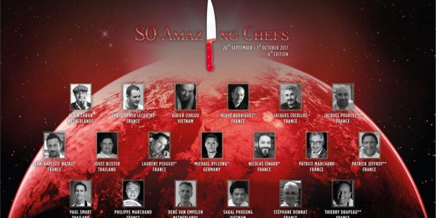 12 MICHELIN STARS ALIGN FOR THE 6TH ANNUAL  SO AMAZING CHEFS 2017 AT SO SOFITEL BANGKOK