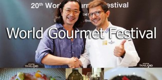 Wine Dinner World Gourmet Festival with Chef Andrea Spagoni
