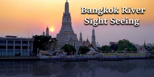 Bangkok sight Seeing on Chao Phraya River on the New Saffron Cruise Ship